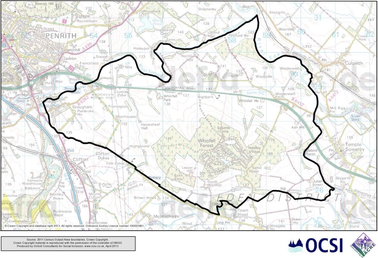 OCSI Boundary Map for Brougham Parish Council